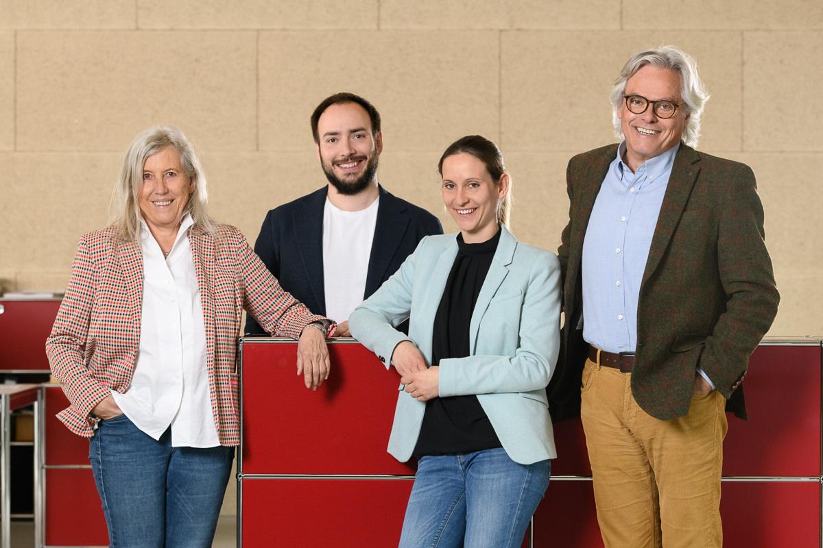 Familie Amann von Amann Kaffee v.l.n.r. Ulrike Amann, Florian Amann, Johanna Amann und Peter Amann